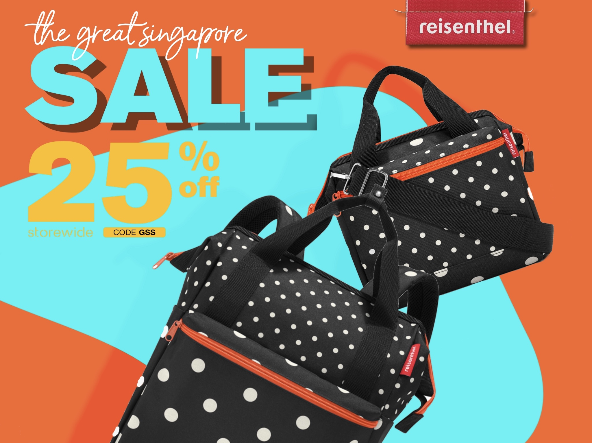 Rock SG Reisenthel Singapore Great Singapore Sale 2020 Mixed Dots